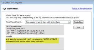 SQL Expert Sample